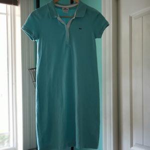 Ladies turquoise Lacoste polo mini dress sz. 38